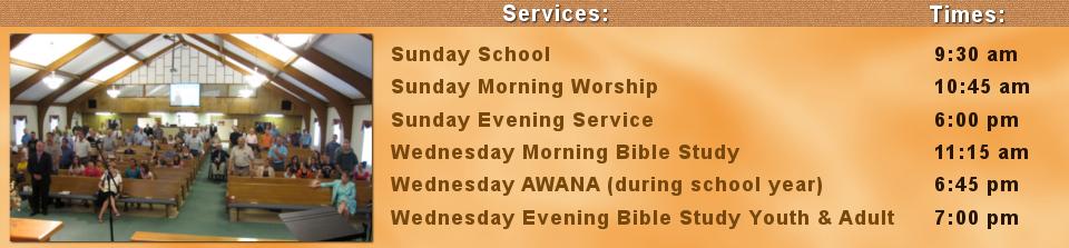 Service Times orange