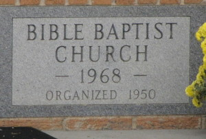 Buffalo Baptist Church Birth Stone